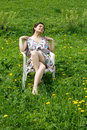 Free Girl Resting In A Chair Stock Photos - 14966363