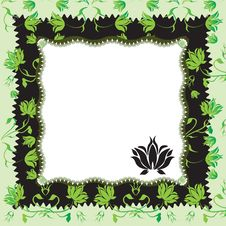 Frame With Flowers. Stock Photos