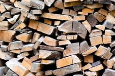 Free Heap Of Firewoods  As Background . Stock Image - 14961931