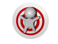 Free Target Guy Plain 3d Stock Photography - 14961932