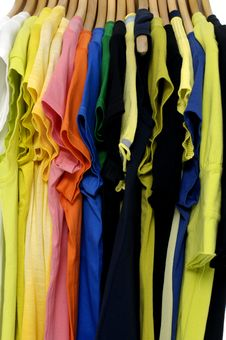 Free Colored Tee Stock Photography - 14961942