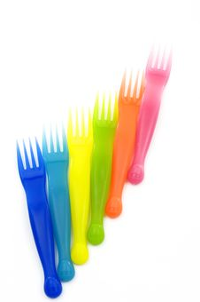 Free Plastic Forks Stock Photo - 14962090