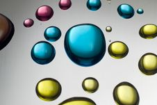 Free Close Up Of Colorful Liquid Drops Stock Photography - 14962432