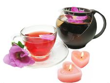 Red Herbal Tea With Wild Rose Royalty Free Stock Photography