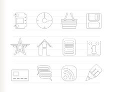 Internet And Website Icons Stock Photos