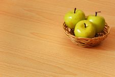 Free Green Apple Basket Stock Image - 14963271