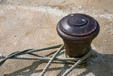 Free Old Rusty Bollard Stock Photos - 14963493