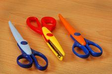 Kiddies Scissors Stock Images