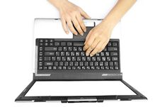 Free Hands On The Laptop Royalty Free Stock Photography - 14964057