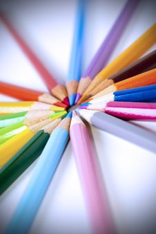 Free Colored Pencils Royalty Free Stock Image - 14965256