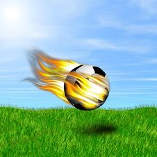 Free Burning Ball Royalty Free Stock Photography - 14965307