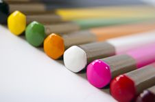 Free Colored Pencils Royalty Free Stock Photography - 14965347