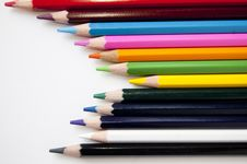 Free Colored Pencils Royalty Free Stock Photos - 14965388