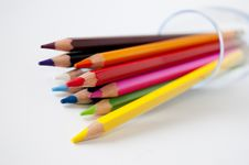 Free Colored Pencils Royalty Free Stock Photo - 14965405