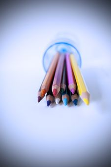 Free Colored Pencils Royalty Free Stock Photography - 14965417