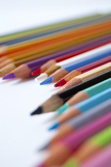 Free Colored Pencils Royalty Free Stock Photo - 14965445