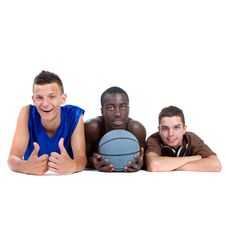 Young Sporty Interracial Teenage Group Royalty Free Stock Image