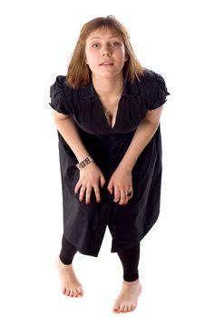 Free Woman Dancing In Studio Stock Image - 14966391