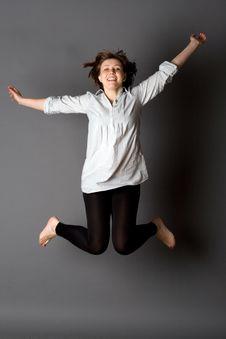 Free Woman Dancing In Studio Royalty Free Stock Photos - 14966498