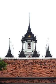 Free Thai Traditional On Temple S Roof Royalty Free Stock Photos - 14966508