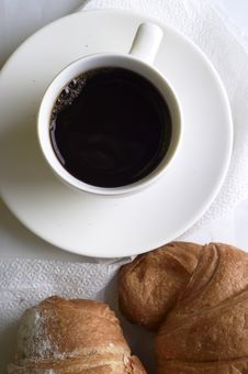 Free Coffee With Croissant Royalty Free Stock Images - 14966509