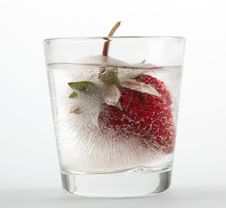 Free Strawberry In Ice Royalty Free Stock Photo - 14966515