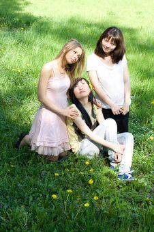 Free Three Girls Royalty Free Stock Photo - 14966575