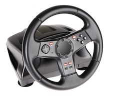 Free Gaming Steering Wheel Royalty Free Stock Photo - 14966875
