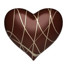 Free Heart - Chocolate Background Stock Photos - 14967203
