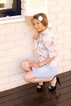 Free Girl  On A Veranda Stock Photos - 14967603