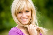 Free Portrait Of  Blonde Woman Royalty Free Stock Photos - 14967648