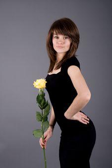 Free Beautiful Girl With Rose Stock Photos - 14967833