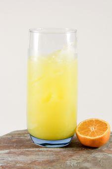 Orange And Juice Stock Photography