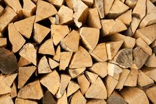 Free Pile Of Chopped Logs Royalty Free Stock Image - 14968246