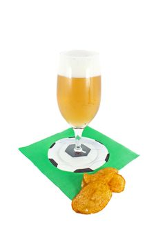 Free Beer And Potato Crisp Stock Images - 14968594