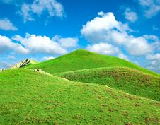 Free Hills Covered With A Grass Stock Photo - 14969730