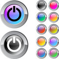 Free Power Multicolor Round Button. Royalty Free Stock Photography - 14970687