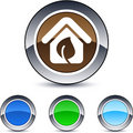Free Green Home Round Button. Royalty Free Stock Image - 14970706
