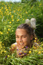 Free Beautiful Girl Lays On A Grass Royalty Free Stock Photo - 14971065