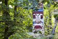 Free Totem Pole Hiding In The Trees Royalty Free Stock Images - 14974099