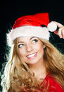 Free Young Pretty Girl In Santa Hat Royalty Free Stock Photo - 14977005