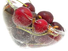 Free Ripe Cherry In The Soda Royalty Free Stock Image - 14970286