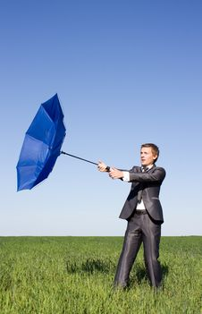 Free Businessman Finding Protection Outside Stock Images - 14970334