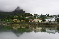Free The Norwegian Village Svolvaer On Lofoten Islands Royalty Free Stock Images - 14970499