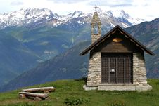 Free Church In The Alps Stock Images - 14970704