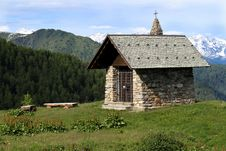 Free Church In The Alps Royalty Free Stock Image - 14970726