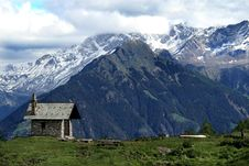 Free Church In The Alps Stock Photos - 14970783