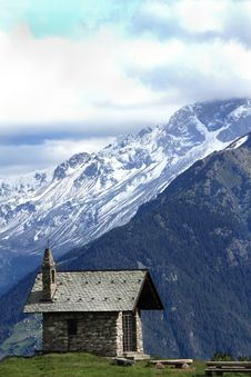 Free Church In The Alps Stock Photography - 14970802