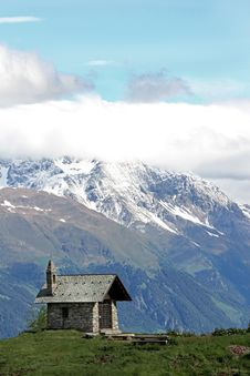 Free Church In The Alps Stock Photo - 14970880