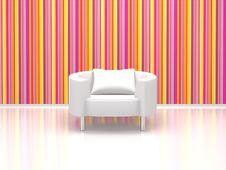 Free White Chair Royalty Free Stock Photo - 14971055